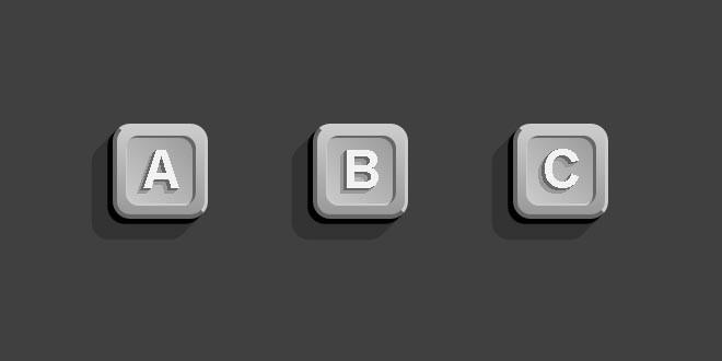 3D кнопки в css