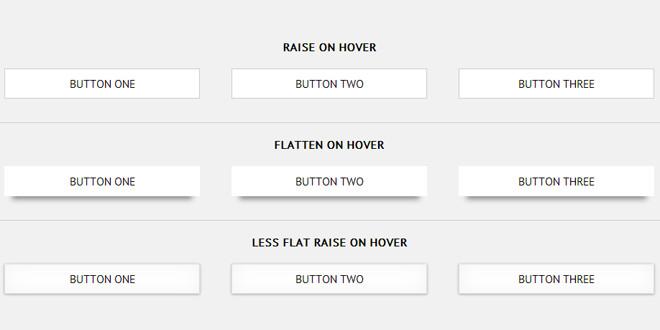 Набор бумажных 3D кнопок CSS