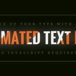 Анимационное заполнение текста используя CSS