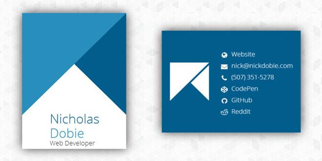 Визитная карточка с Hover-эффектом на чистом CSS