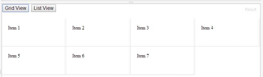 Переключатель вида список/сетка
