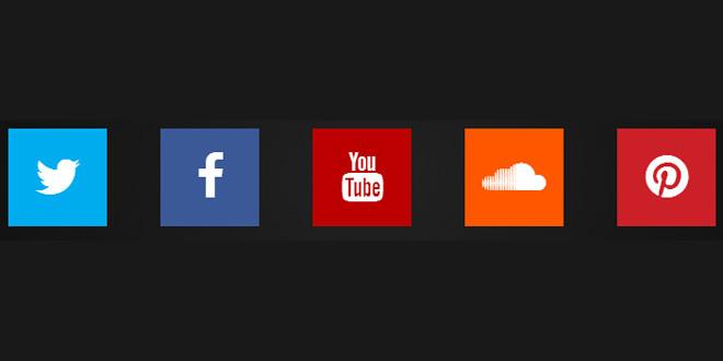 Социальные кнопки на чистом CSS