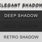 Элегантная CSS тень для текста