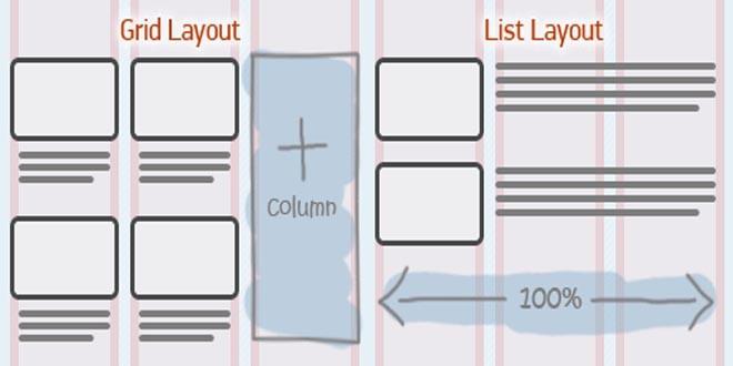 Переключатель список/сетка с помощью JQuery (Switch List/Grid View using jquery)