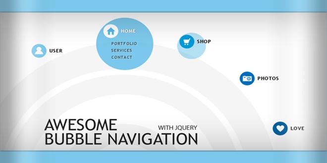 Классня навигация пузырьками