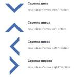 Стрелки с помощью CSS