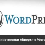 """Как сделать кнопку """"Вверх"""" в WordPress"""