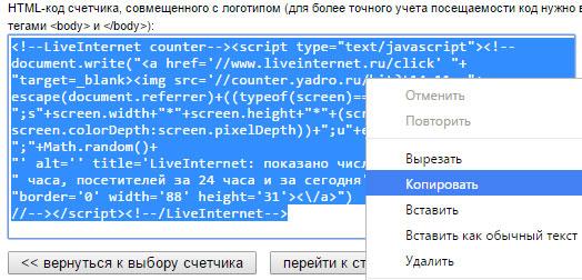 Как установить счетчик посещаемости liveinternet на WordPress